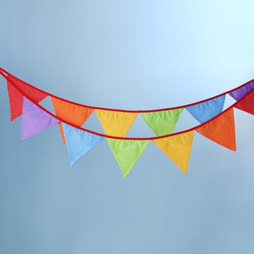 3.2m Wimpelkette Wimpelgirlande Bunt Flagge Wimpel Deko Party Geburtstag