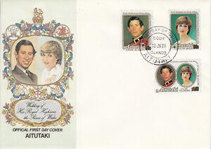 Aitutaki-FDC-Ersttagsbrief-1981-Hochzeit-Prinz-Charles-u-Lady-Diana-Mi-406-8