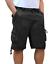Bermuda-Uomo-Cargo-Pantalone-corto-Tasconi-Laterali-Shorts-Cotone-Nero-Verde miniatura 6