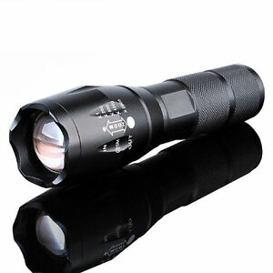 10000Lumens XM L T6 Zoomable Tactical military LED 18650 Flashlight Torch Lamp