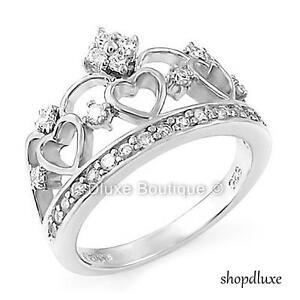 a14258644e44 Women s Queen Royalty Princess Crown .925 Sterling Silver Fashion ...