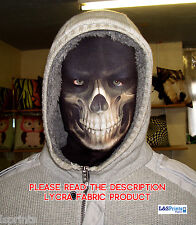 GRIM REAPER SCARY HALLOWEEN NOVELTY LYCRA FABRIC FACE MASK SNOOD FANCY DRESS