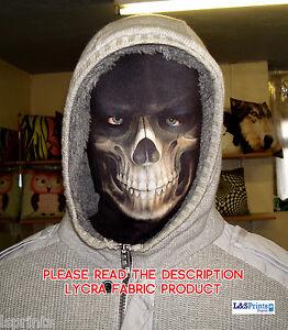 Halloween-Maschera-Spaventoso-Horror-Grim-Reaper-Costume-Tessuto-Lycra-basso-di-lenza