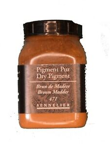 Sennelier-Artist-Quality-Dry-Pigment-Brown-Madder-plastic-pot-amp-free-delivery