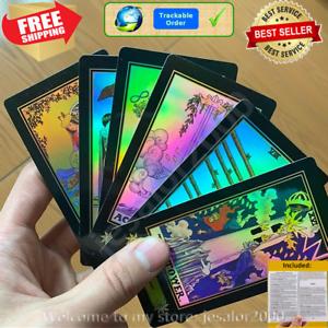 Holographic-Glowing-Shining-Tarrot-Tarot-Future-Telling-Trick-Deck-78-Cards-Ori