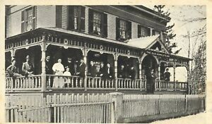 pc12846 postcard Old Homestead people on pourch PMC Hartford Connecticut mint