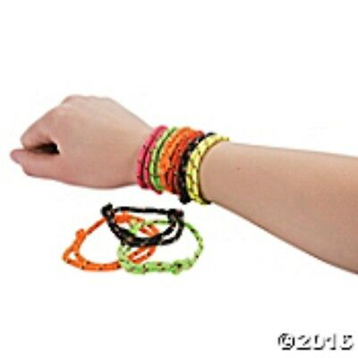 Lot of 72 Party Favors Friendship Rope Bracelets in Six Assorted Colors