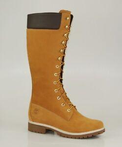 Timberland-14-Inch-Premium-Boots-Waterproof-Damen-Winter-Stiefel-Wheat-3752R