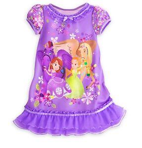 4347b55076 Disney Store Princess Sofia the First   Friends NightGown Girls 3 4 ...