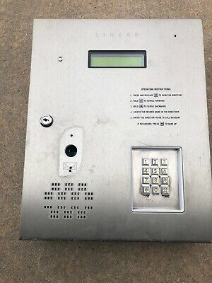 Silver LINEAR AE 1000 Plus Telephone Entry System