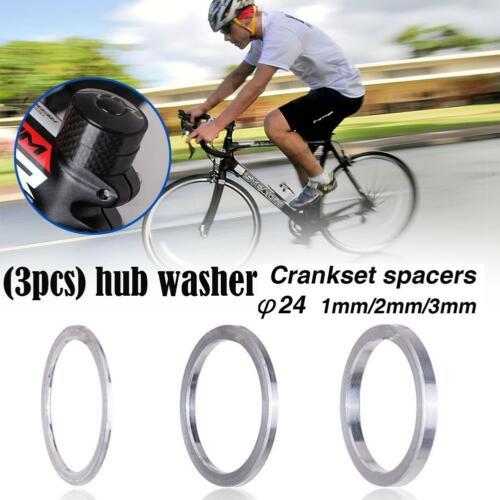 3pcs Set Lightweight Bike Bottom Bracket Washer Bicycle Flywheel Hub Spacer 24mm