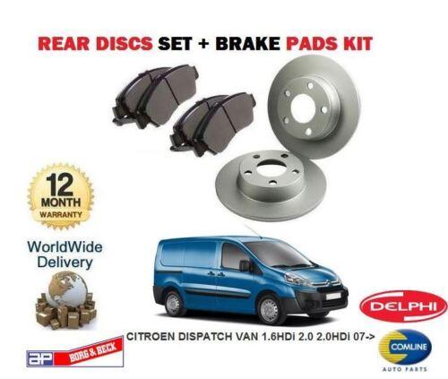 FOR CITROEN DISPATCH VAN 1.6 2.0 HDi 2.0 2007-/> REAR Brake Discs Disc Pads Set