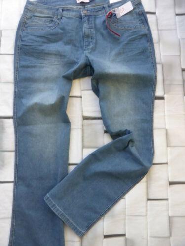 Sheego Donna Jeans Pantaloni Stretch Maila tg 220 44 a 58 dimensioni Long Blue