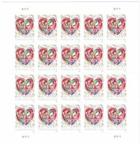 Quilled-Paper-Heart-Scott-5036-Forever-2016-Postage-Stamps-Sheet-of-20