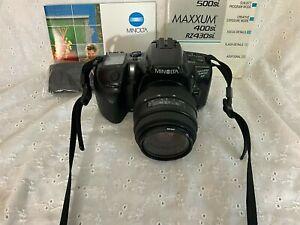 Minolta Maxxum 430 SI RZ 35mm Camera W / 80mm Quantaray MX AF Zoom Lens 1.4-56 :