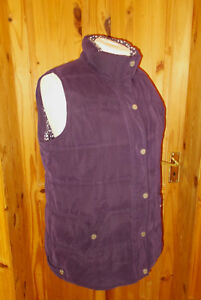 Jacket Coat 20 Winter Xl Gilet Purple Dark Padded Bodywarmer 48 Quilted 1max nYUWTz7