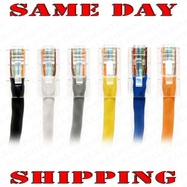 5ft CAT5e Ethernet Network LAN Patch Cable Cord 350 MHz RJ45 Gray 20 Pack Lot