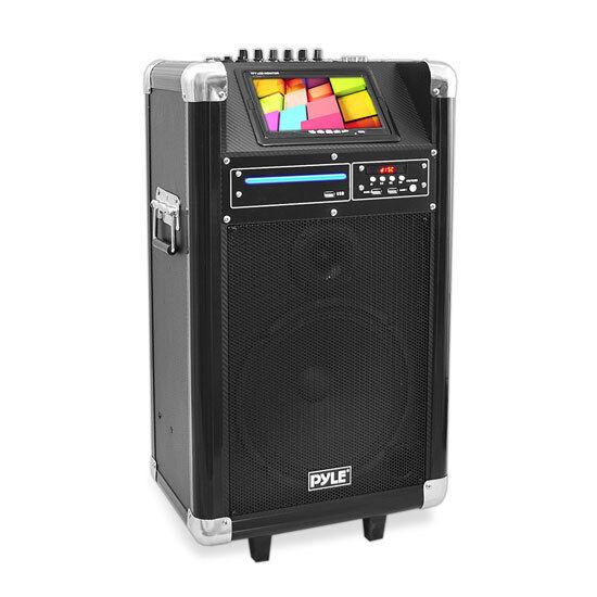 """Pyle PKRK10 Karaoke PA System 7"""" Screen  DVD Player 400 Watt"""