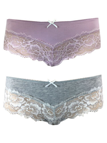 LADIES  EX FAMOUS STORES  BRAZILIAN STYLE LACE KNICKERS SHORTS M/&5 M S