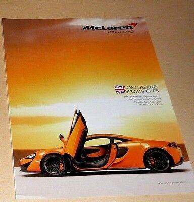 EXTRAORDINARY EVERY DAY MCLAREN 570S /& 570GT ADVERTISEMENT 2016