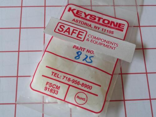 """Keystone 875 QTY-8 Round #4 Clear Hole Spacer Nylon 1//8-ID x 1//4OD x 1//8/""""L N36-1"""
