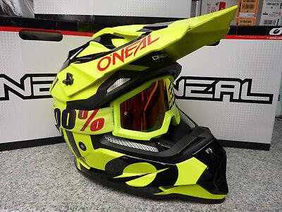 New Adult O Neal Helmet FUEL 3Series Blue Hi-Viz S M L XL MX 100/% Blue Goggles