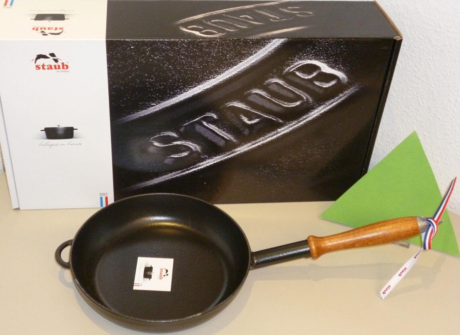 Staub Fonte Poêle 24 cm Noir, Induction 1er Choix Neuf + Emballage D'Origine