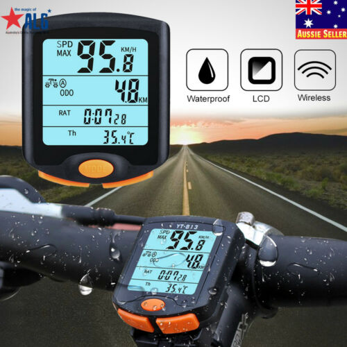 Cycling Bike Bicycle Wireless LCD Cycle Computer Odometer Speedometer Waterproof