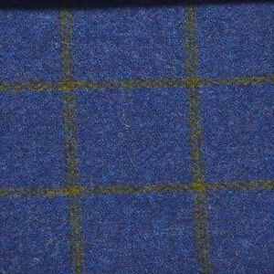 Giacca-Uomo-Su-Misura-In-Harris-Tweed-quadri-blu-sportiva-peso-Winter