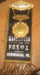 P-O-S-of-A-Washington-Camp-No-625-Aaronsburg-Pa-Badge-amp-Ribbon