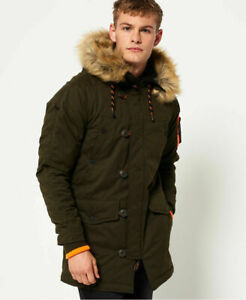 Details about New Mens Superdry SD 3 Parka Jacket Army