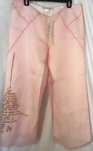NWT-BAHAR-KORCAN-Istanbul-Women-039-s-Pink-Lined-Turkish-Pants-Sz-10