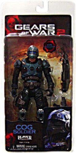 NECA Gears of War 2 COG Soldier Action Figure [Shotgun & LANCER]
