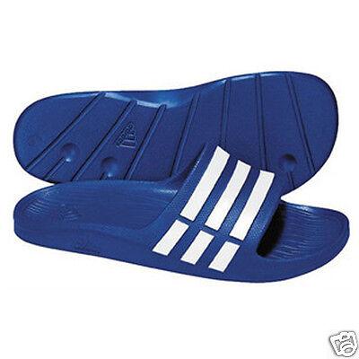 Hommes adidas duramo glisser tongs sandales piscine plage chaussures Tru Blue tailles:6 18 | eBay