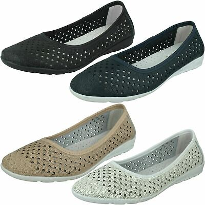 Details about  /Ladies Eaze Synthetic Slip On Casual Ballerina Shoes