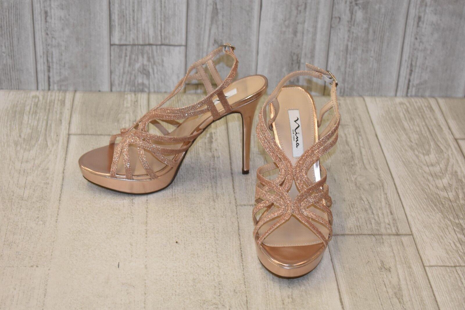 Nina Solina Platform Heel - Women's Size 9.5M pink gold