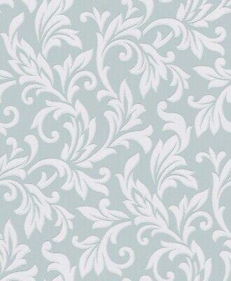 2,95€//1qm Tapete Barock Blume blau cremeweiß Tapete Rasch Shiny Chic 309829