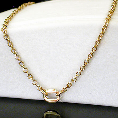 """Ladies Petite Belcher OVAL INFINITY 14k Gold EP Anklet ~ MADE TO MEASURE 9/""""-12/"""""""