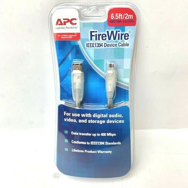 APC FIREWIRE IEEE1394 DEVICE CABLE (6.5ft/2m), PC