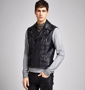 New-Belstaff-Studded-Waxed-Leather-Phoenix-Vest-Jacket