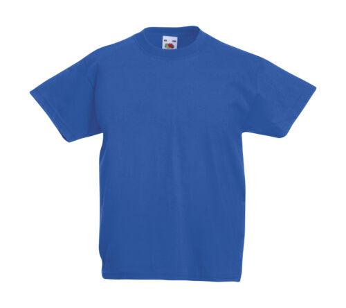 Fruit of the Loom enfants t-shirt original thé différentes couleurs 104-164 NEUF