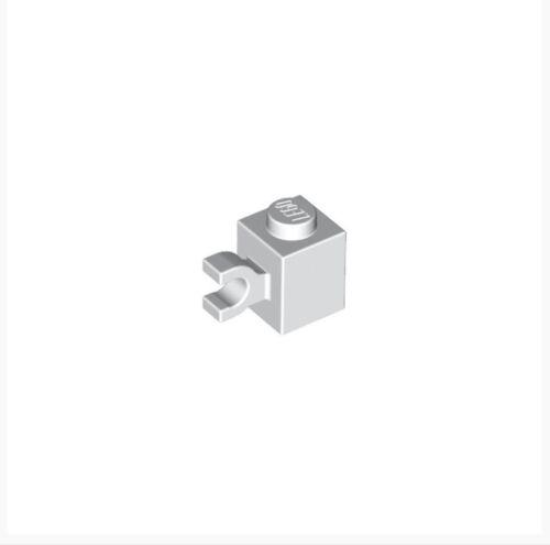 Lego X50 New Bulk Lot White 1x1 Brick Modified With Horizontal Clip Part #60476