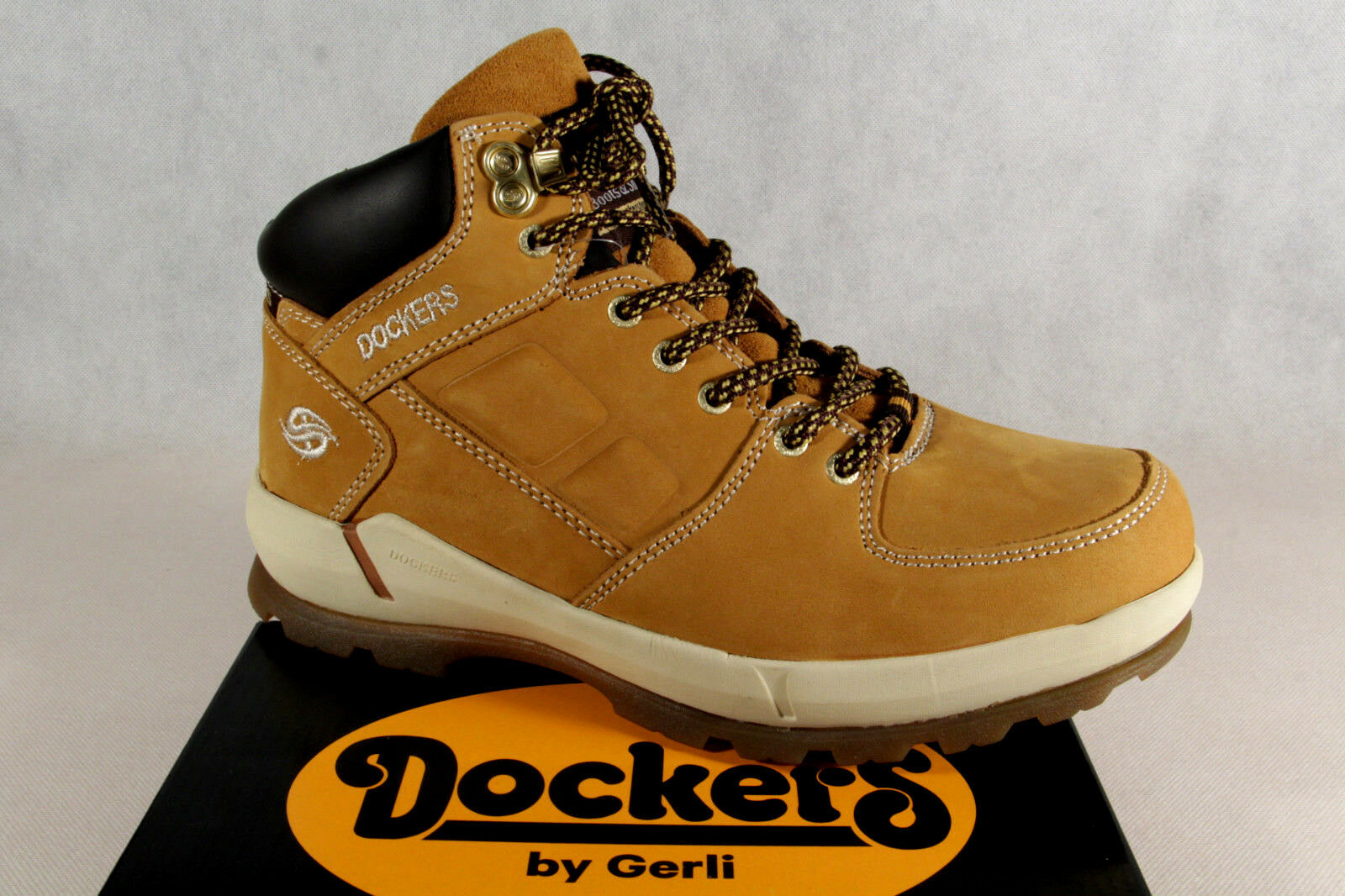 Dockers Boots Lace up Boots Boots Winter Boots Yellow Real Leather 39or003 New