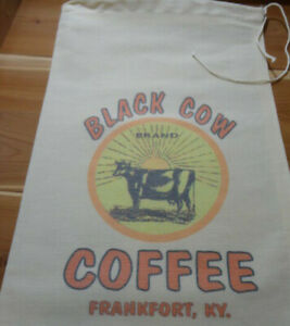 RL-23-BLACK-COW-Flour-Bag-Sack-Feed-Seed-Novelty-Collectible