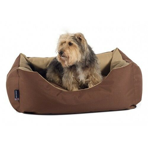 Sleepy Paws Waterproof Domino Bed braun Beige Small 65x80cm Dog Bed