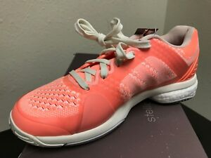 reputable site classic fit temperament shoes Details about Adidas Women's aSMC Barricade Boost Tennis Shoe Style AF6164