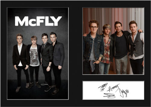 McFLY #1 Signed Photo Print A4 Mounted Photo Print FREE DELIVERY