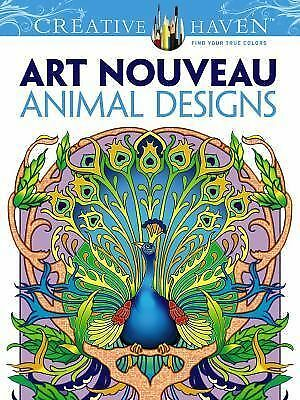 Creative Haven Art Nouveau Animal Designs Coloring Book - I send worldwide