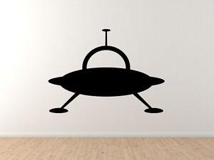 UFO Sighting Landing Gear Cartoon Style Space Alien #1 Car Tablet Vinyl Decal