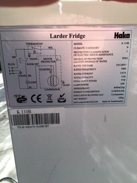 Køle/svaleskab, Haka K 110B, 110 liter